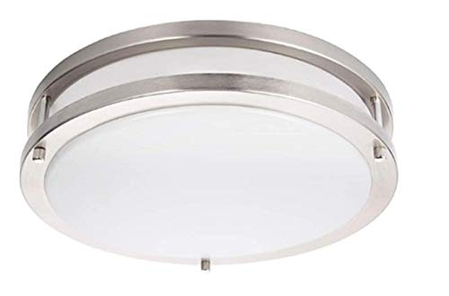 Energetic Lighting 14-inch Double Ring LED Flush Mount Ceiling Light, 24w Dimmable