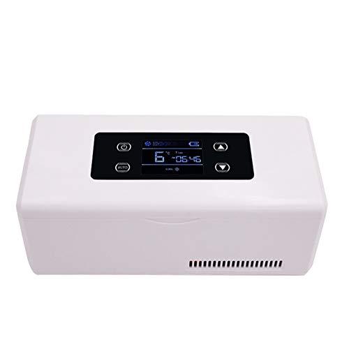 Car refrigerator Intelligenter Kleiner KüHlschrank - Tragbarer Insulin-Gefrierschrank, Aufbewahrungsbox FüR Interferon/Serum/Augentropfen Bei 2-8 ° C, Leistungsstarke KüHlung/Hd-Led-Anzeige
