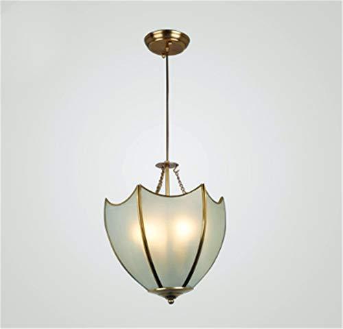 Hanglamp van koperen balkon voor enkele deur, glas voor kroonluchter, eenvoudige retro-kapstok van koper