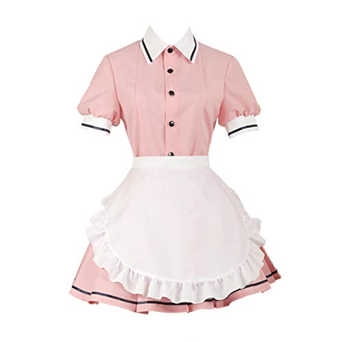 MIAOCOS Sakuranomiya Maika Cosplay Blend S Housemaid Pink Uniforms Coffee Maid Lolita Dress Costumes Adult Japanese School Girl Uniform Skirt