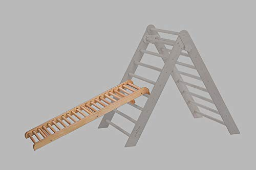 RINAGYM Rutschbrett/Hühnerleiter Zubehör zum Kletterdreieck Roller Massage Board Rampe 115 * 35 cm