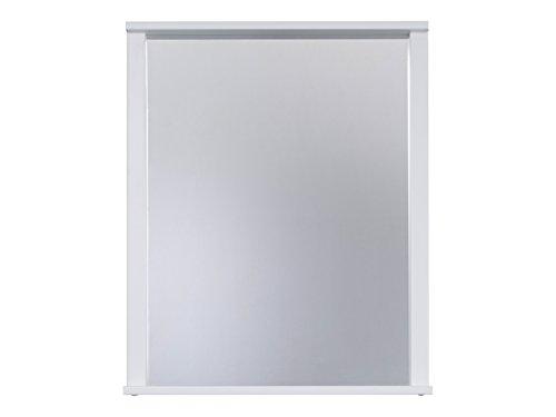 trendteam smart living Cuarto de baño Espejo de pared Florida, 63 x 78 x 12 cm en blanco con repisa