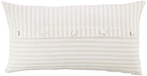 Nautica Cotton Striped Bolster Decorative Throw Pillow