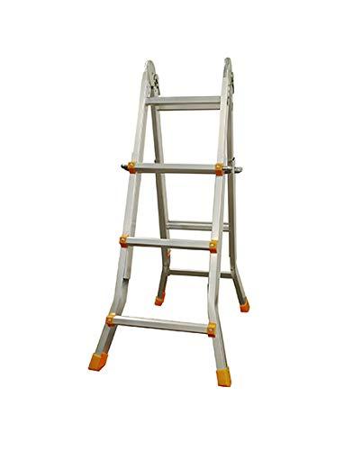 Alu Tech 101501 ladder, meerdere posities, inklapbaar, 4 x 3 treden, voldoet aan EN131, belastbaar tot 150 kg