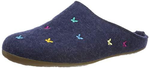 Haflinger Damen Everest Farfalline Pantoffeln, Blau (Jeans 72), 37 EU