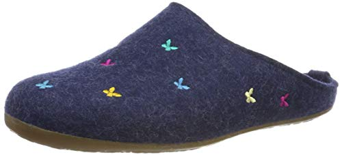 Haflinger Damen Everest Farfalline Pantoffeln, Blau (Jeans 72), 39 EU