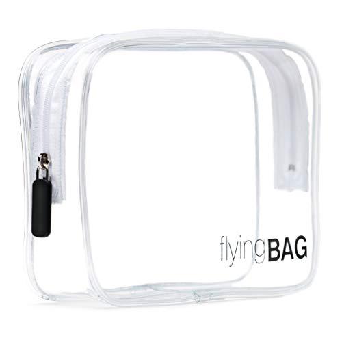 PREMAROS® flyingBAG transparenter Kulturbeutel, Kosmetiktasche für Koffer im Handgepäck, Kulturtasche zum Transport von Flüssigkeiten im Handgepäck