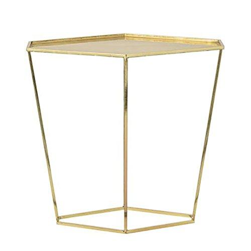 Bloomingville Tisch Geo Side, Diamondshaped Shiny Brass Finish W37xL52xH49cm