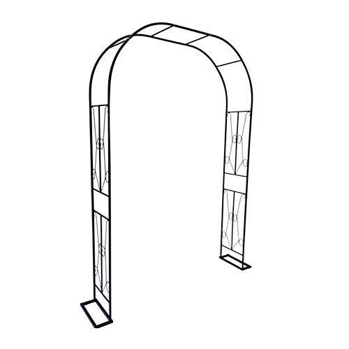 HLMBQ - Arco de pérgola de metal resistente para jardín, arco de rosas, decoración de bodas, terrazas, pepinos, flores, cenadores anchos, se monta libremente, 120 x 240 cm resistente a la intemperie