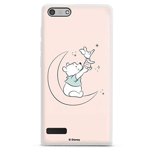 DeinDesign Silikon Hülle kompatibel mit Huawei Ascend P7 Mini Hülle weiß Handyhülle Winnie Puuh Ferkel Offizielles Lizenzprodukt Disney