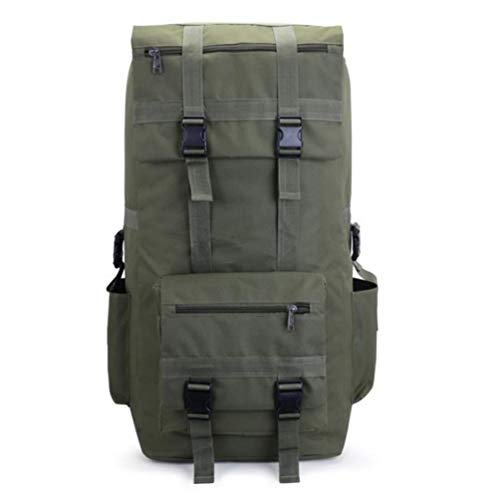 Q Gym Bag 110L to 120L Large Capacity Outdoor Military Tactical Backpack Waterproof Breathable Oxford Camo Rucksack Travel Climbing Bag (Color : Army Green, Size : A)