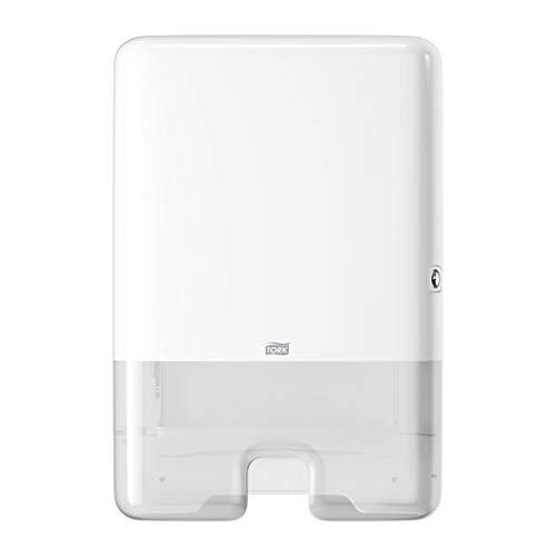 Tork 552000 Dispensador de toallas de mano entre plegadas, compatible con el sistema de Tork H2, Blanco, Large