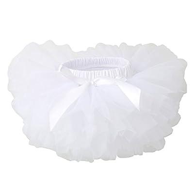 Slowera Baby Girls Soft Tutu Skirt (Skorts) 0 to 36 Months (M: 6-12 Months, White)