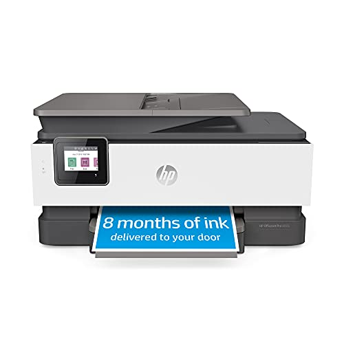 HP OfficeJet Pro 8035 All-in-One Wireless Printer - Includes 8 Months of Ink, HP Instant Ink, Works with Alexa - Basalt (5LJ23A)
