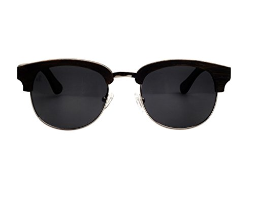 Swole Panda - Black Bamboo Sunglasses with Pouch and Case SP001