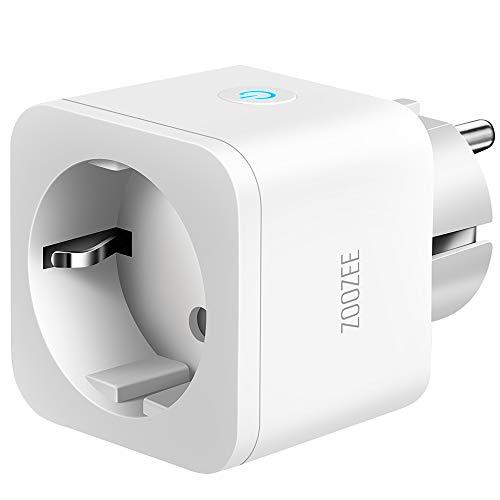 Enchufe Inteligente Zoozee WiFi Enchufe Smart 16A Inteligente Plug Compatible con Google Home Amazon Alexa, App Control en Cualquier Lugar y Tiempo, No Requiere Hub (1 pack)
