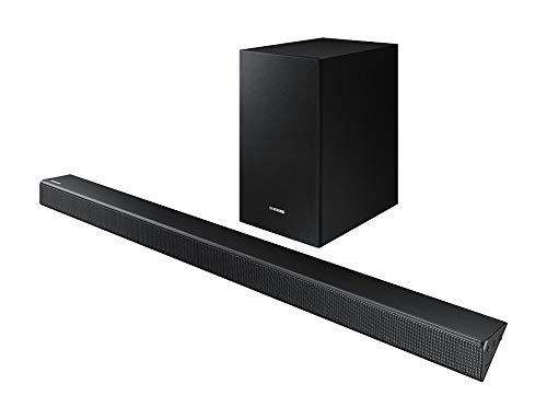 Samsung HW-R550 altavoz soundbar 2.1 canales 320 W Negro - Barra de sonido (2.1 canales, 320 W, DTS 2.0,Dolby Digital, Altavoz de subgraves (subwoofer) activo, 16,5 cm (6.5