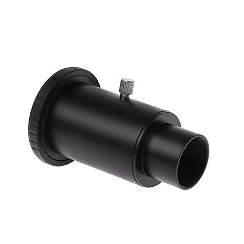 Yushu Adaptador de aluminio T2 Tubo de extensión de telescopio de 1.25 pulgadas Adaptador de montaje de telescopio Rosca de rosca para Nikon para accesorios de cámara DSLR (Color: Negro)