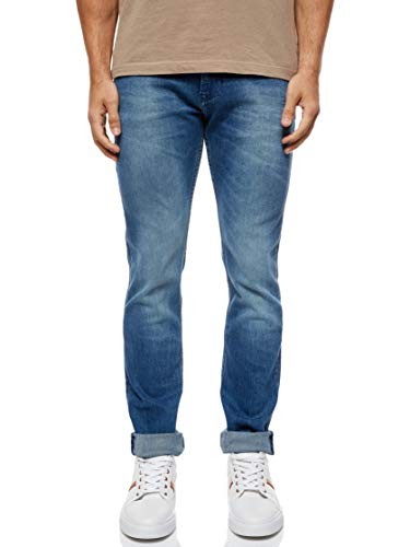 Tommy Jeans Herren Scanton Jeans, Berry Mid Blue Comfort, 33W / 32L