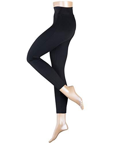 ESPRIT Damen Leggings Grit - Blickdicht, Matt, 1 Stück, Schwarz (Black 3001), Größe: L