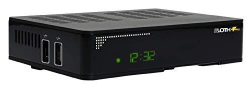 Red Opticum Sloth Combo 4K, DVB S/S2/T/T2-C digitale IP-ontvanger met PVR opnamefunctie en externe IR-sensor (HDTV, 4K, UHD; H.265, HEVC, HDMI, S/PDIF, IPTV, LAN, USB) zwart