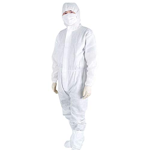 Cuoff Washable Protective clothing Particles Barrier Hygiene Waterproof Dust protection Suit Antistatic Cleanroom Garments Yellow M
