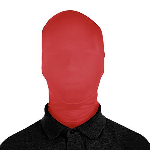 AltSkin 2Face Solid Spandex Mask - Junior Red