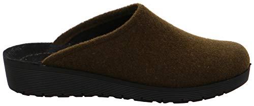 Rohde Damen 4322 Roma Pantoffeln Hausschuhe Softfilz, Größe:39 EU, Farbe:Grün
