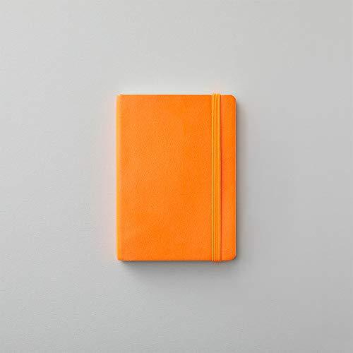Paperchase Agenzio - Cuaderno de notas (tamaño pequeño), color naranja atómico