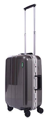 Lojel Superlative Frame Polycarbonate 19.5-inch Upright Spinner Luggage, Grey, 23 Inch