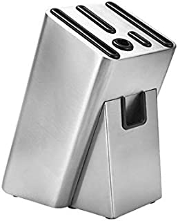 SCRFF Porte-Couteau en Acier Inoxydable Bloc Multifonction Ciseaux Sharpener Couteau de Cuisine Organisateur de Rangement ...