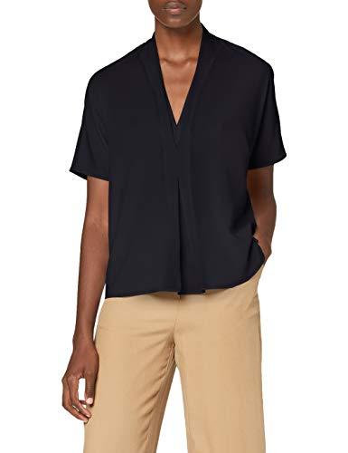 French Connection Damen INETA Light V Neck Short Sleeve TOP Bluse, Utility Blau, M