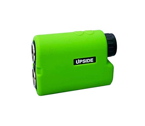 Upside Golf New & Improved - LOCKON RangeFinder with Built-in Magnetic Golf Cart Mount, 6X Laser RangeFinder up to 1000+ Yards, Accurate to 1 Yard, Water Resistant - Silicon Protective Sleeve Included