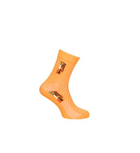 PRO' line Calze Calzini Ciclismo Arancione Fluo all Orange Cycling Socks 1 Paio One Size New Line