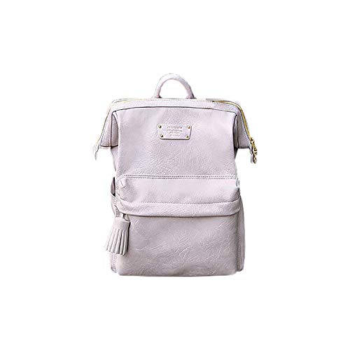 Cratte Mini Office Leather Business Backpack (Gray Lavender)