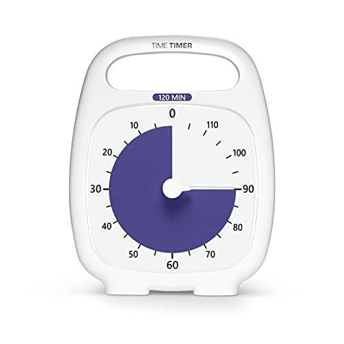 Time Timer Plus 120 Minute Visueller Timer - 'Make Time Edition' Countdown-Uhr (anthrazit) Richtlinie für Produktivität und Fokus