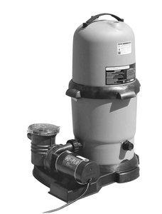 Waterway Plastics 806105502698 Cartridge Filter & 2 Hp 2 Speed...