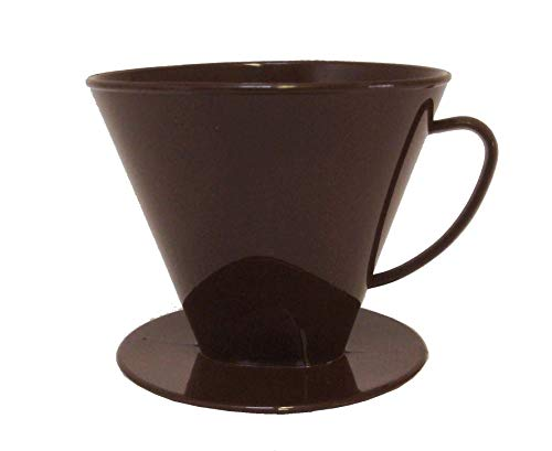 Sonja-Plastic Kannenaufsatz 4-8 Tassen, braun, Kaffeefilter, Made in Germany