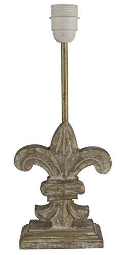 Quaint & Quality Lampenfuß Fleur de Lilie, aus Holz, Taupe