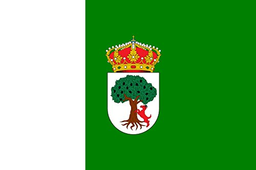 magFlags Bandera Large Escudo de Aceuchal Badajoz De Plata | Bandera Paisaje | 1.35m² | 90x150cm