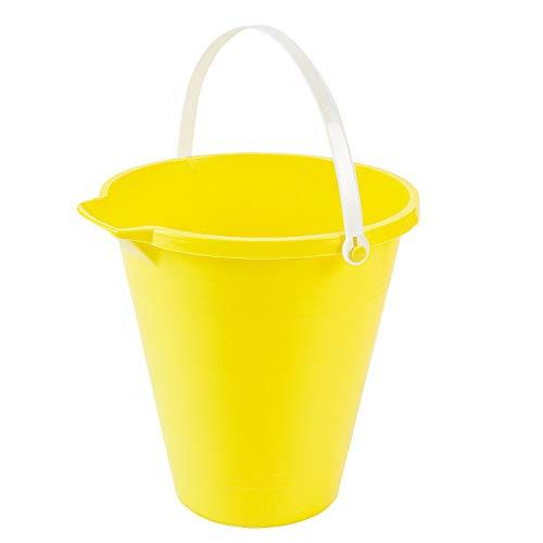 Fun Express - Yellow Sand Bucket - Toys - Active Play - Beach Toys - 1 Piece