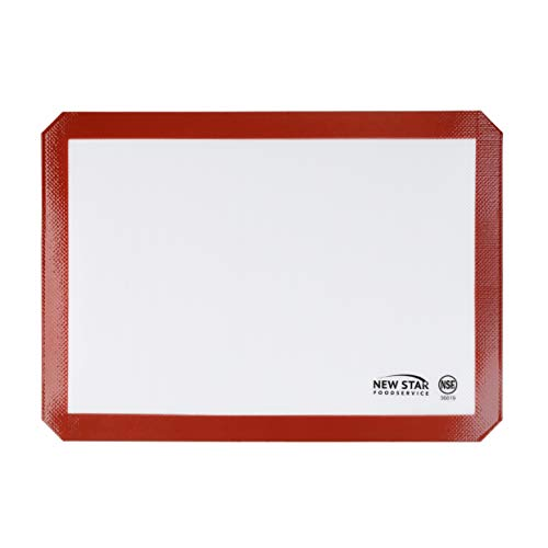 New Star Foodservice 36619 Commercial Grade Silicone Baking Mat Non Stick Pan Liner, 11 x 17 Inch (Half Size)