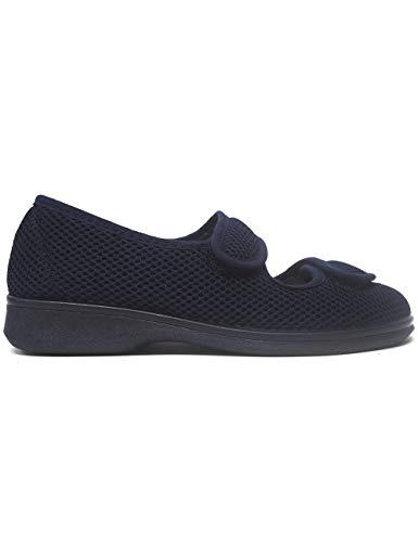 Zapatillas de Estar por casa para Mujer Especial para Personas Mayores Ancianos Ancho Especial Campello 5822 Marino