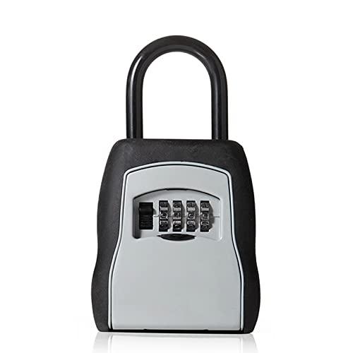 WanuigH Caja Fuerte para Llaves Key Outdoor Key Caja de Caja Caja de Almacenamiento Cadlock Password Lock Aleación Organizer Cajas Más Confiable (Color : Gris, Size : 26x9cm)