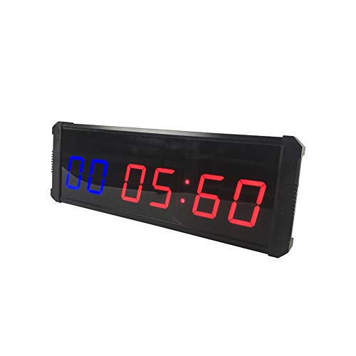 Yingm Temporizador de Entrenamiento Físico Gimnasio Reloj Intervalo Pared temporizadores con Control Remoto inalámbrico cronómetro Reloj de Cuenta atrás Instalación de Pared