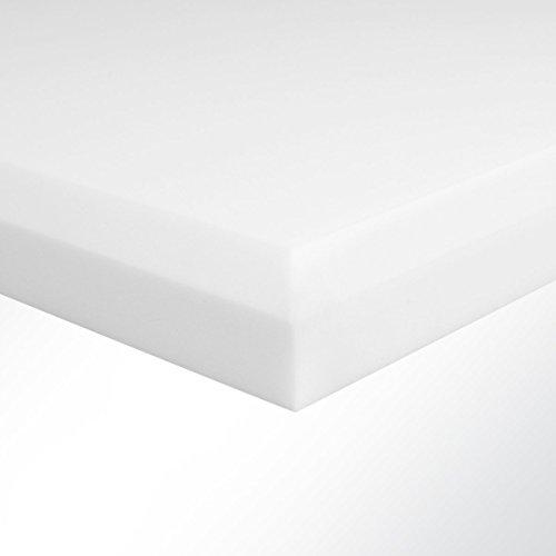 Basotect Schaumstoff G+ hellgrau mit 45° Fase (LxB) 100x50cm Stärke 3-10cm zur wirksamen Nachhallreduzierung