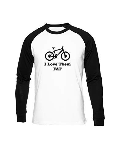 Fioze I Love Them Fat Camiseta Béisbol Unisex Cuello Redondo Baseball Unisex T-Shirt