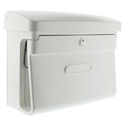 Burg-Wächter Briefkasten mit Zeitungsfach, Matt-Optik, A4 Einwurf-Format, EU Norm EN 13724, Kunststoff, Bremen 885 W, Weiß