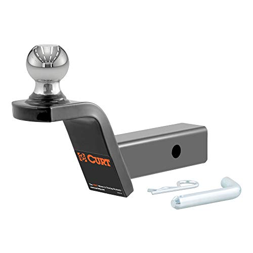 CURT 45155 Fusion Trailer Hitch Mount with 2-Inch Ball & Pin, Fits 2-In Receiver, 7,500 lbs, 2' Rise