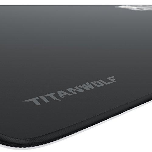 Titanwolf XXL Speed Gaming Mauspad - 900 x 400mm - XXL Mousepad - Tischunterlage Large Size - mit Titanwolf-Motiv - verbessert Präzision und Geschwindigkeit - rutschfest - strapazierfähig